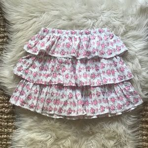 Janie and Jack tiered corduroy floral girls skirt